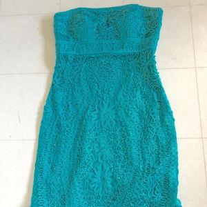 Sue Wong Sleeveless Soutache Dress TEAL 6 #64A